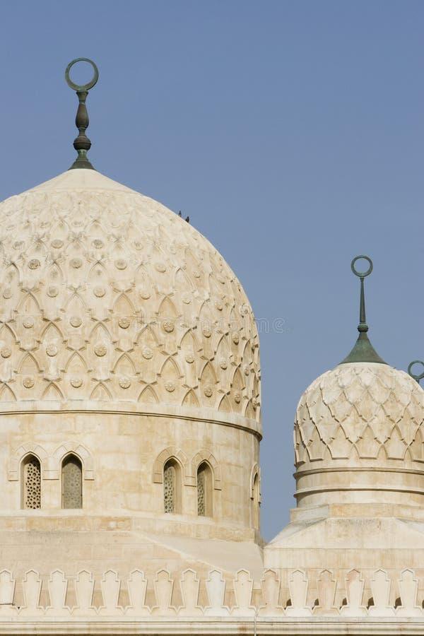 Αρχιτεκτονική λεπτομέρεια Ε.Α.Ε. Ντουμπάι των θόλων του μουσουλμανικού τεμένους Jumeirah στοκ εικόνες με δικαίωμα ελεύθερης χρήσης