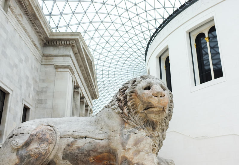 Αρχιτεκτονική στο βρετανικό μουσείο, Αγγλία στοκ φωτογραφίες