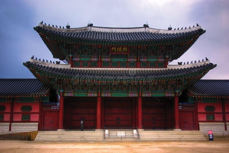 αρχιτεκτονική κορεατι&kapp στοκ φωτογραφίες