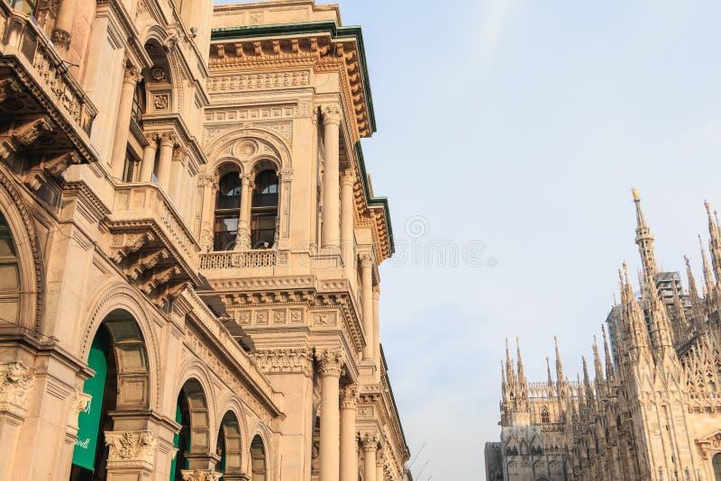 Αρχιτεκτονική λεπτομέρεια του Galleria Vittorio Emanuele ΙΙ στοκ εικόνα