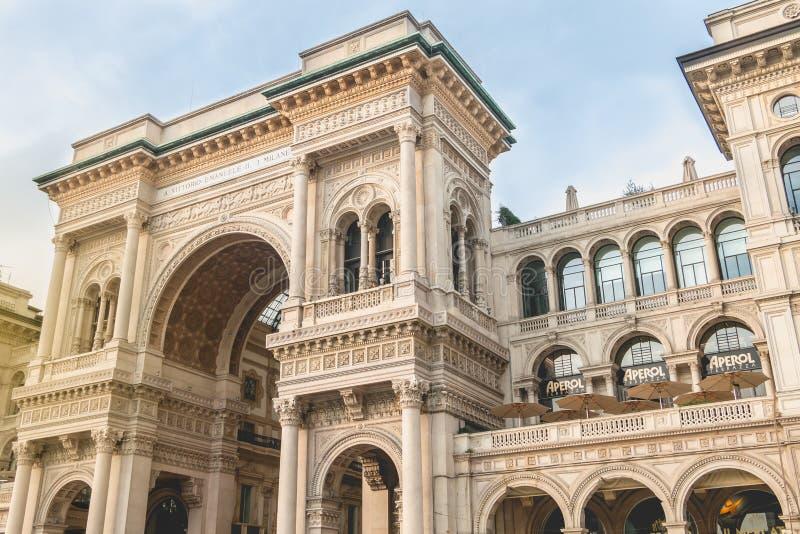 Αρχιτεκτονική λεπτομέρεια του Galleria Vittorio Emanuele ΙΙ στοκ φωτογραφίες