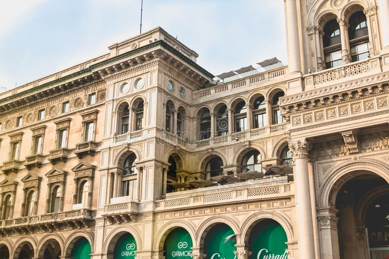 Αρχιτεκτονική λεπτομέρεια του Galleria Vittorio Emanuele ΙΙ στοκ φωτογραφίες με δικαίωμα ελεύθερης χρήσης
