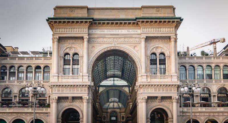 Αρχιτεκτονική λεπτομέρεια Galleria Vittorio Emanuele ΙΙ στο Μιλάνο στοκ φωτογραφία με δικαίωμα ελεύθερης χρήσης