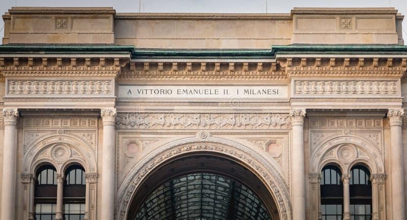 Αρχιτεκτονική λεπτομέρεια Galleria Vittorio Emanuele ΙΙ στο Μιλάνο στοκ φωτογραφίες με δικαίωμα ελεύθερης χρήσης