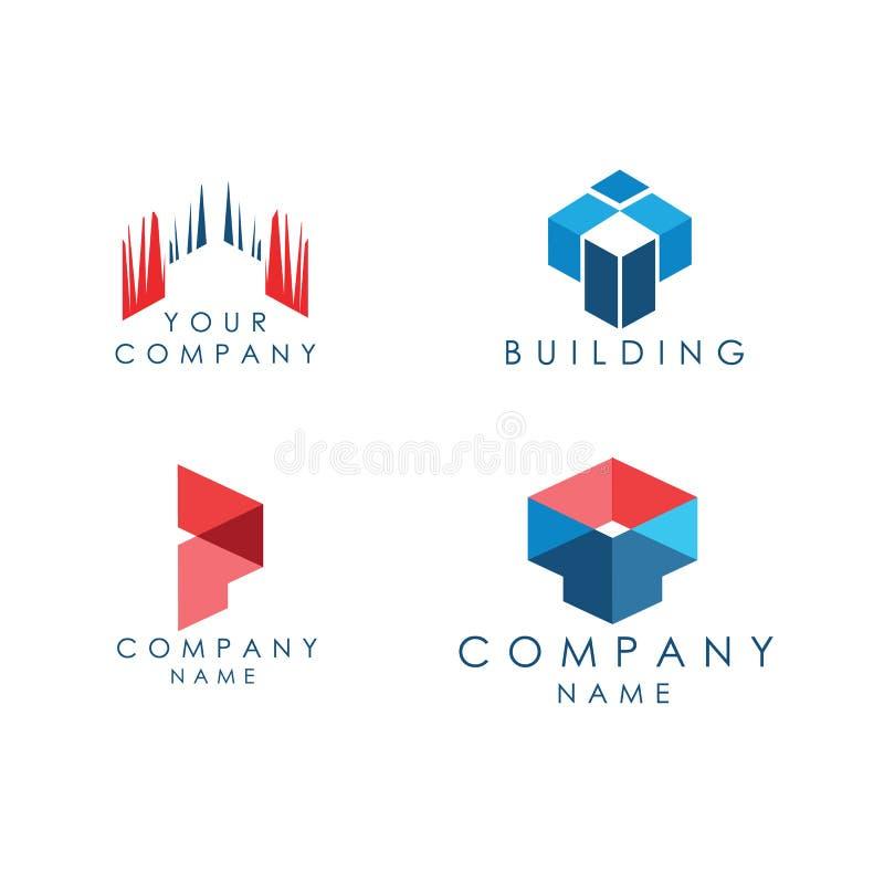 Αρχιτεκτονική λογότυπων και κατασκευαστικό εταιρεία απεικόνιση αποθεμάτων