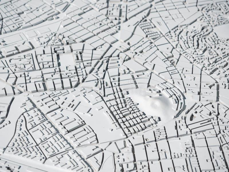 Αρχιτεκτονική Μοντέλο πόλης Διαμόρφωση πολεοδομίας στοκ εικόνα