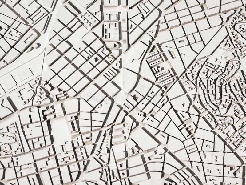 Αρχιτεκτονική Μοντέλο πόλης Διαμόρφωση πολεοδομίας στοκ εικόνες