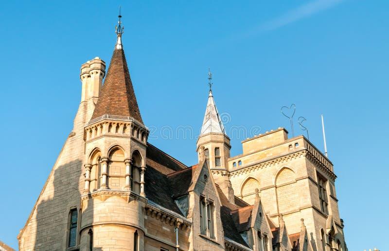 Αρχιτεκτονική οδών του Πανεπιστημίου της Οξφόρδης, UK στοκ φωτογραφία