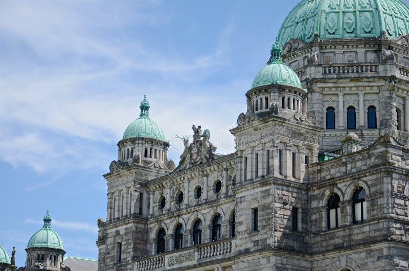 Αρχιτεκτονική οικοδόμησης του Κοινοβουλίου Βρετανικής Κολομβίας, Βικτώρια, Καναδάς στοκ φωτογραφία