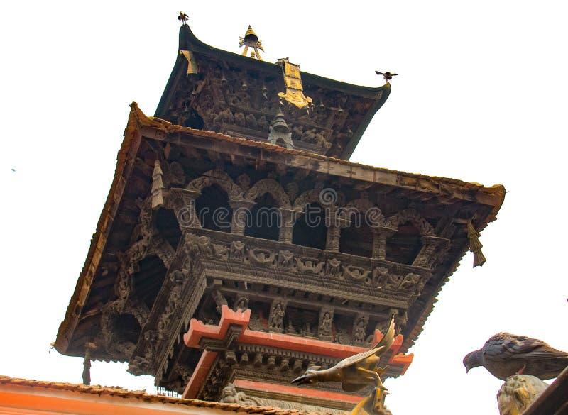 Αρχιτεκτονική σε ένα από τα βασιλικά παλάτια στο Κατμαντού στοκ φωτογραφία με δικαίωμα ελεύθερης χρήσης