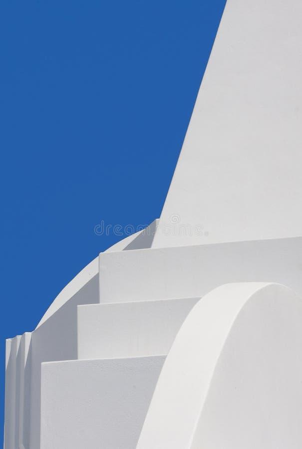 αρχιτεκτονική στέγη λεπτομέρειας οικοδόμησης santorini της Ελλάδας στοκ εικόνα