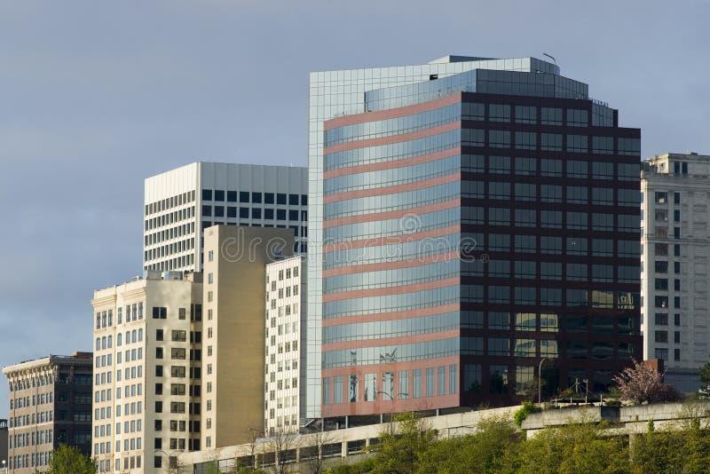 Αρχιτεκτονική στο κέντρο της πόλης Τακόμα Ουάσιγκτον Northwe κτιρίων γραφείων στοκ φωτογραφία