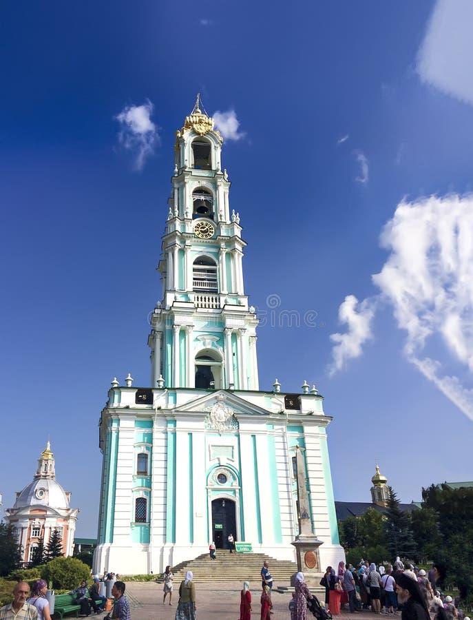 αρχιτεκτονική συνόλων ομοσπονδίας τριάδα sergius sergiev lavra posad ρωσική στοκ εικόνα με δικαίωμα ελεύθερης χρήσης