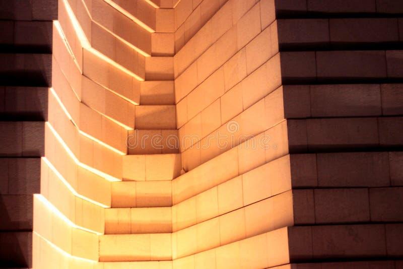 Αρχιτεκτονική σύσταση τοίχων των φω'των και των σκιών στοκ εικόνα