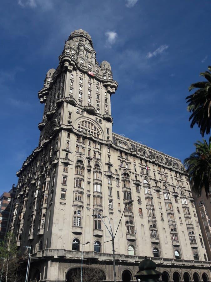 Αρχιτεκτονική της πλατείας Ανεξαρτησίας Μοντεβιδέο Ουρουγουάης στοκ εικόνα