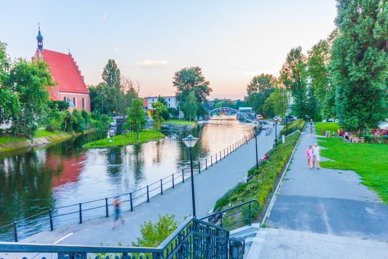 Αρχιτεκτονική της πόλης Bydgoszcz στην Πολωνία στοκ εικόνες