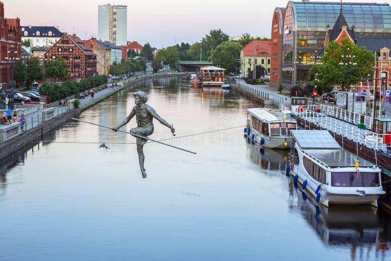 Αρχιτεκτονική της πόλης Bydgoszcz στον ποταμό Brda στην Πολωνία στοκ εικόνα με δικαίωμα ελεύθερης χρήσης