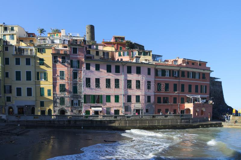 Αρχιτεκτονική της Vernazza στοκ φωτογραφίες