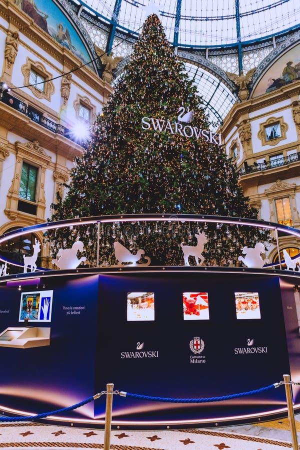 Αρχιτεκτονική του Galleria Vittorio Emanuele ΙΙ arcade κοντά Piazza del Duomo στο κέντρο της πόλης του Μιλάνου και την κύρια περι στοκ φωτογραφίες με δικαίωμα ελεύθερης χρήσης