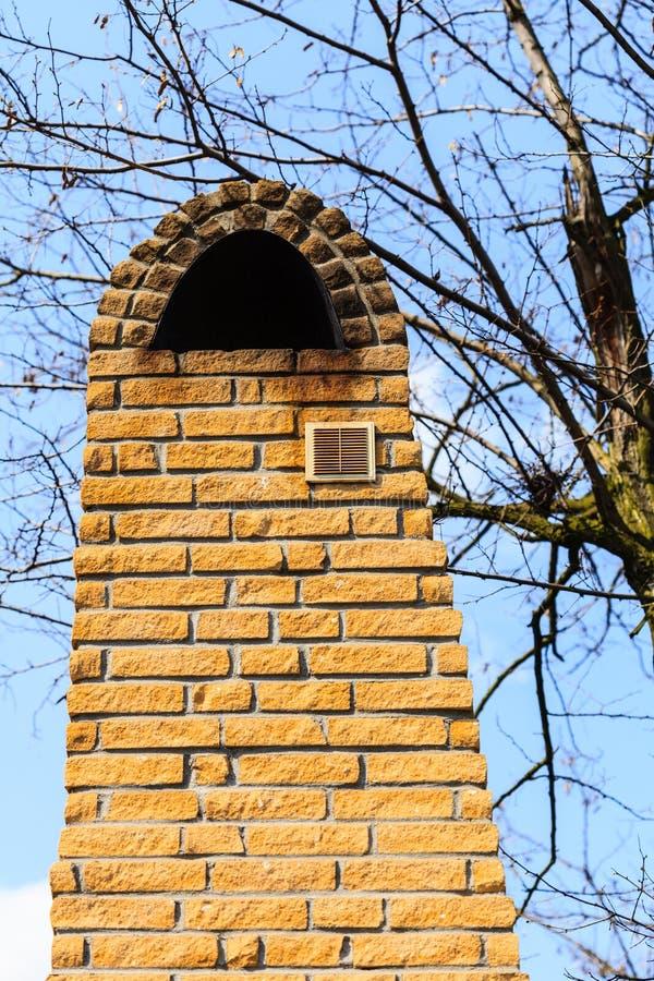 αρχιτεκτονική Τούβλινο εξωτερικό καπνοδόχων στοκ φωτογραφίες με δικαίωμα ελεύθερης χρήσης