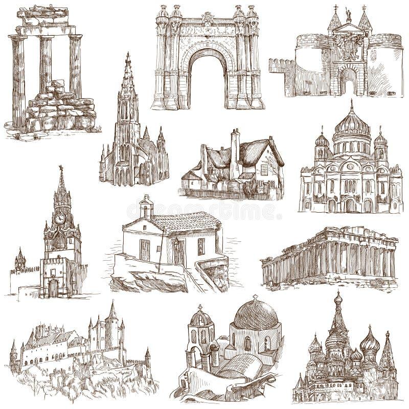 Αρχιτεκτονική ελεύθερη απεικόνιση δικαιώματος