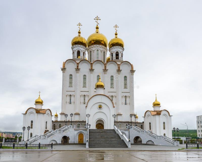 Αρχιτεκτονική Magada, Ρωσική Ομοσπονδία στοκ φωτογραφίες με δικαίωμα ελεύθερης χρήσης