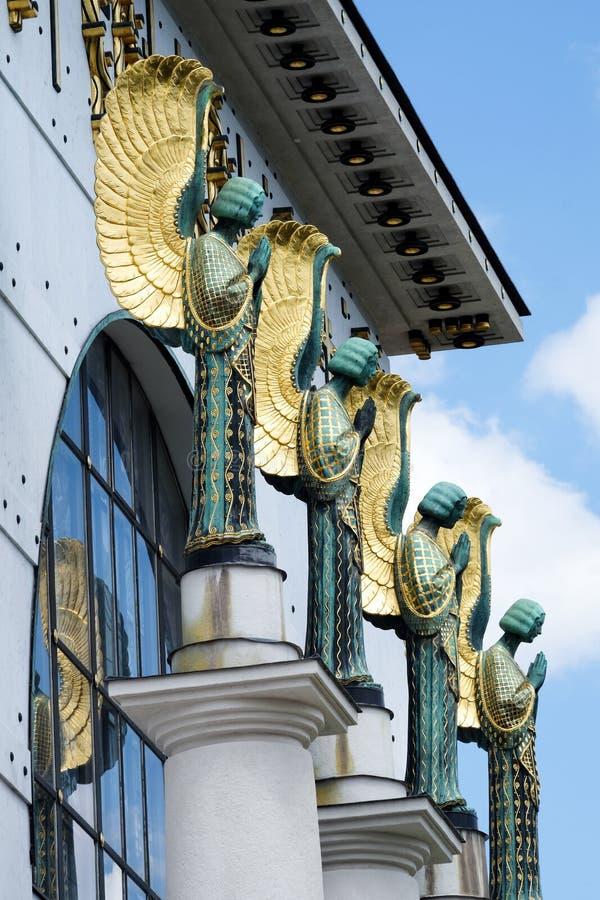 Αρχιτεκτονική Otto Wagner Βιέννη στοκ φωτογραφίες