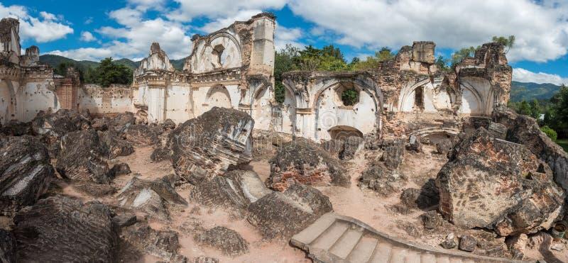 Αρχιτεκτονικός σύνθετος Λα Recoleccion στη Αντίγκουα, Guetemala Είναι μια προηγούμενη εκκλησία και το μοναστήρι της διαταγής ανακ στοκ φωτογραφίες