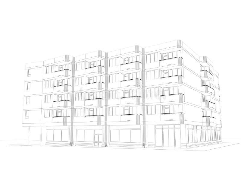αρχιτεκτονικό καλώδιο σχεδίων πλαισίων απεικόνιση αποθεμάτων