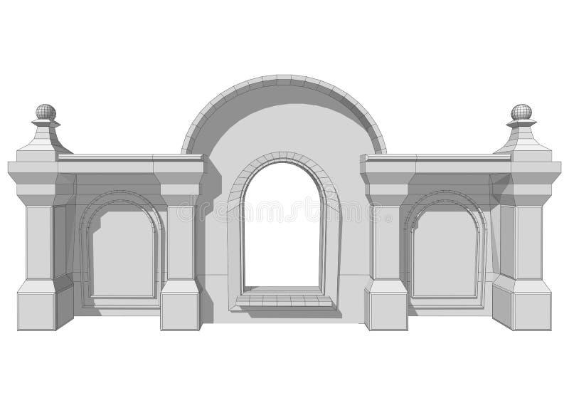 Αρχιτεκτονικό στοιχείο στεγών ελεύθερη απεικόνιση δικαιώματος