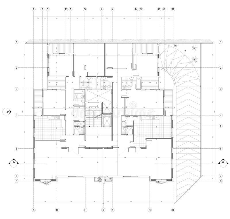 Αρχιτεκτονικό σχέδιο ελεύθερη απεικόνιση δικαιώματος