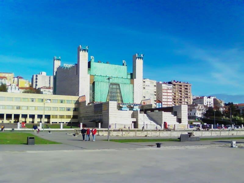 """Αρχιτεκτονικό σύνθετο """"παλάτι των φεστιβάλ Cantabria Ισπανία στοκ εικόνες με δικαίωμα ελεύθερης χρήσης"""