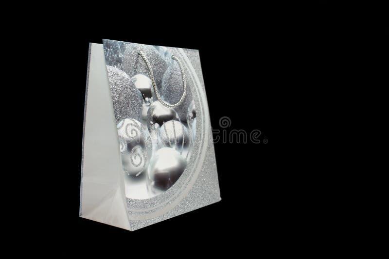 ασήμι δώρων τσαντών στοκ φωτογραφία με δικαίωμα ελεύθερης χρήσης