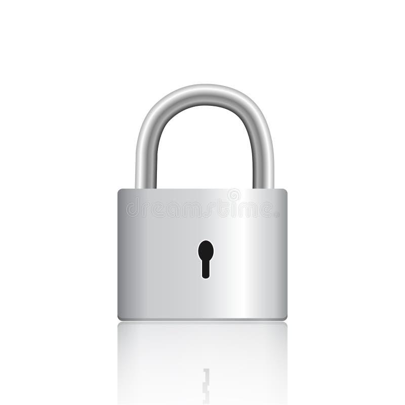 ασήμι κλειδωμάτων απεικόνιση αποθεμάτων