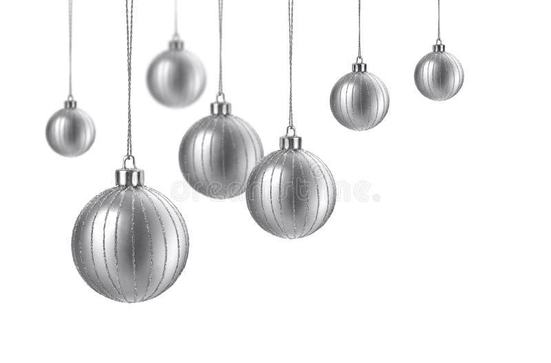 ασήμι σατέν Χριστουγέννων &sigm στοκ εικόνα