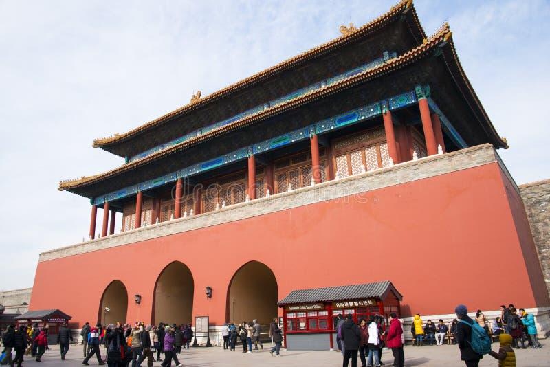 Ασία Κίνα, Πεκίνο, το αυτοκρατορικό παλάτι, Duanmen στοκ εικόνα
