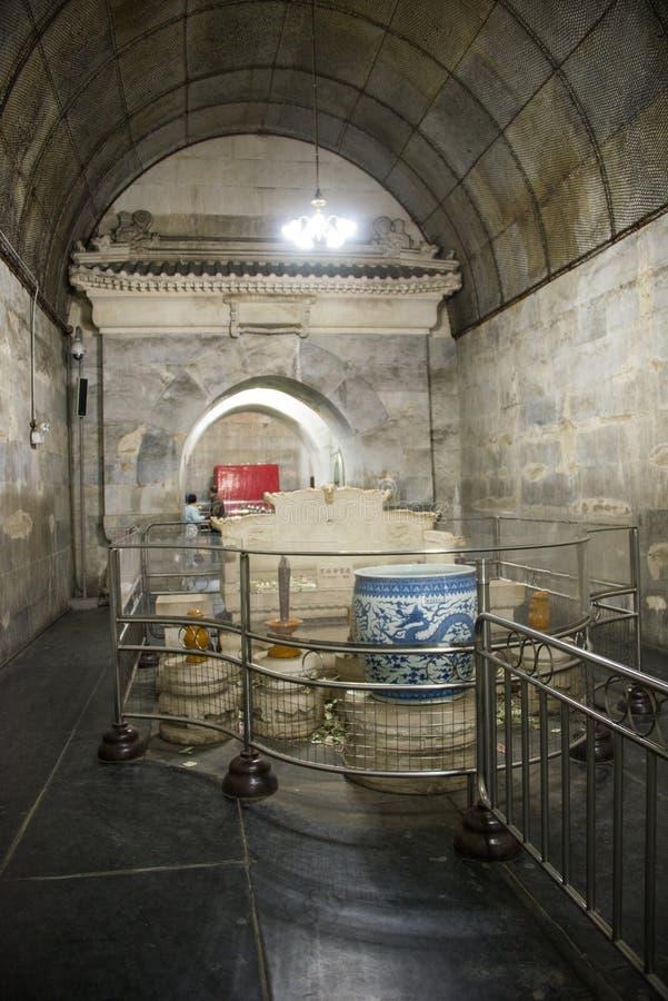 Ασία κινέζικα, Πεκίνο, τάφος Œunderground palaceï ¼ ŒUnderground Tombsï ¼ δυναστείας Ming στοκ φωτογραφίες