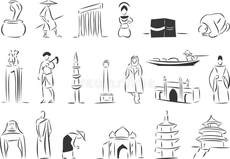 Ασία απεικόνιση αποθεμάτων
