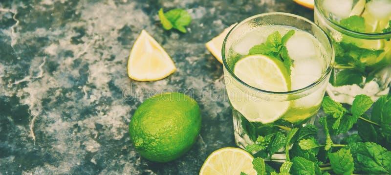 Ασβέστης και μέντα ποτών r τρόφιμα στοκ φωτογραφίες