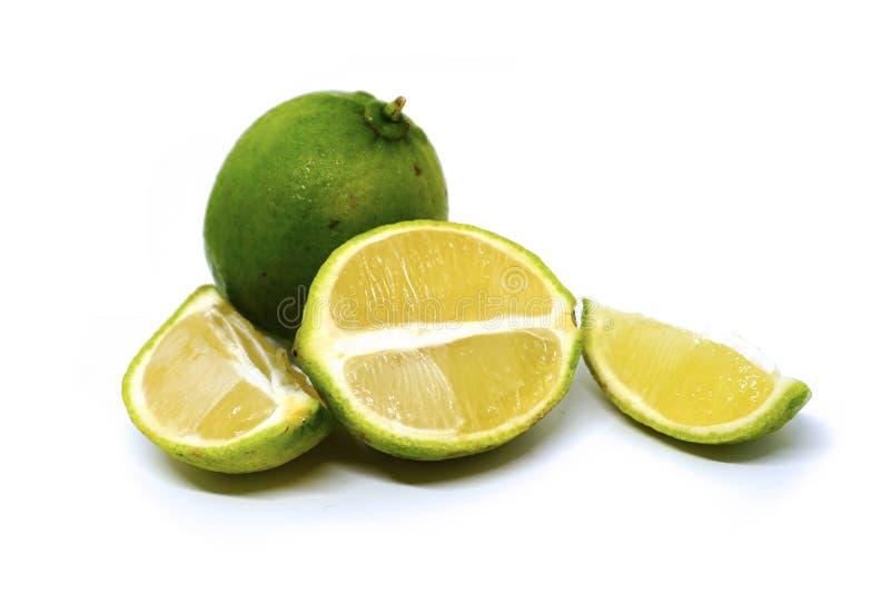 ασβέστης φρούτα με τις φέτες στοκ εικόνες