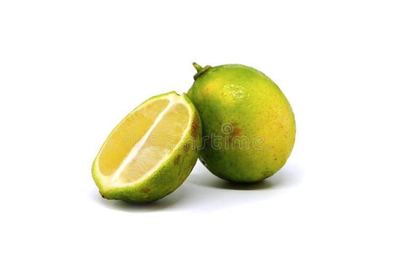 ασβέστης φρούτα με τις φέτες στοκ φωτογραφία