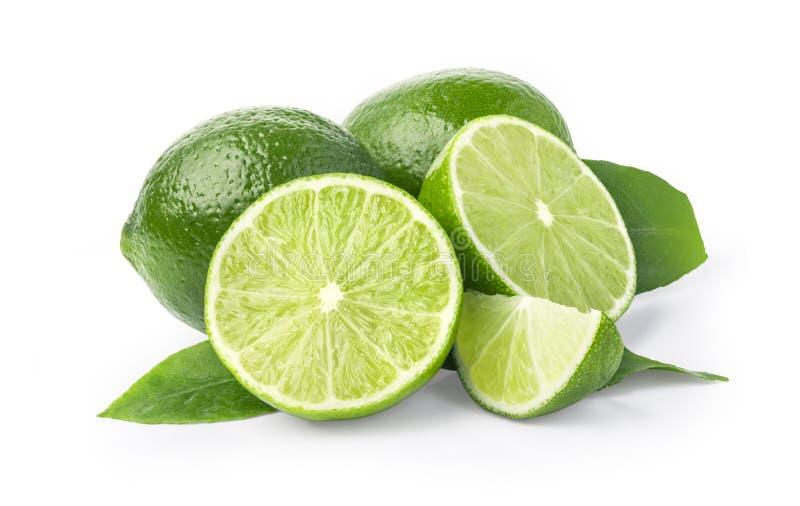 Ασβέστης φρούτα που απομονώνονται στο λευκό στοκ φωτογραφία με δικαίωμα ελεύθερης χρήσης