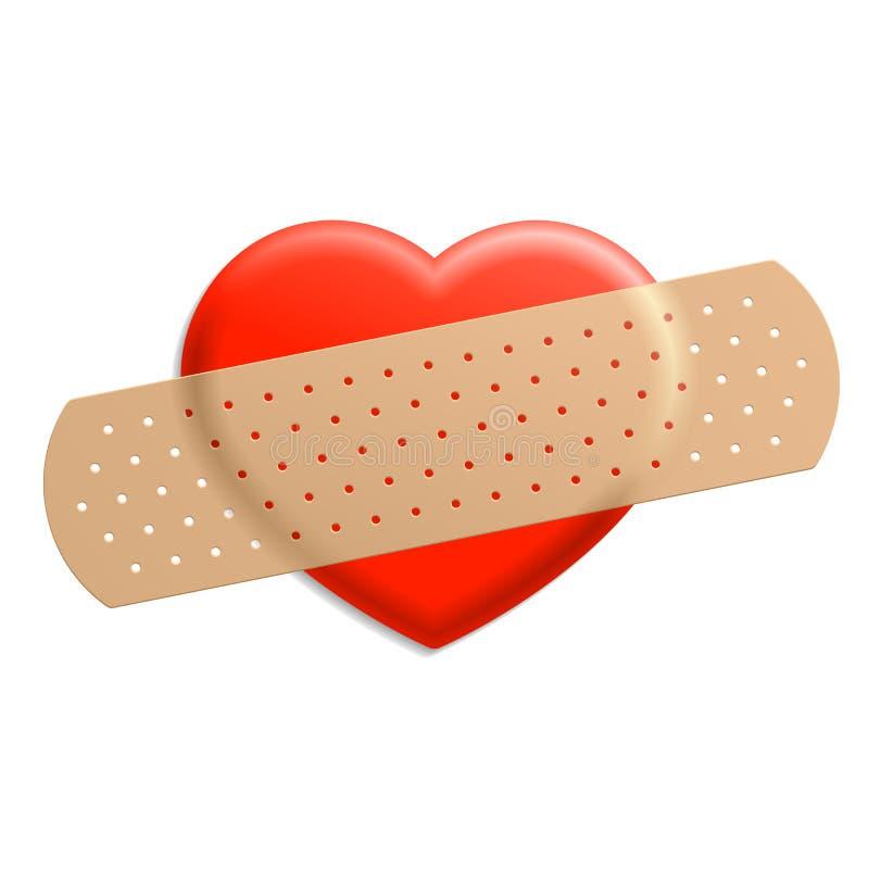 ασβεστοκονίαμα καρδιών διανυσματική απεικόνιση