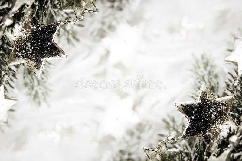 Ασημένια ανασκόπηση αστεριών στοκ φωτογραφία με δικαίωμα ελεύθερης χρήσης