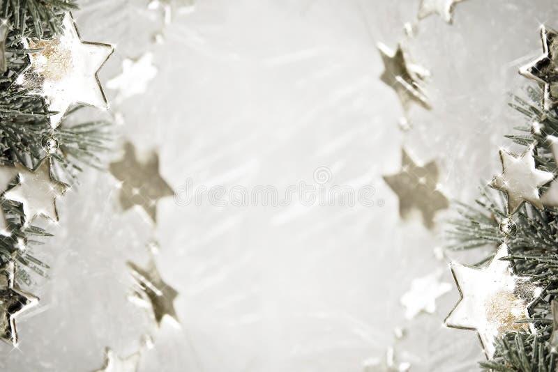 Ασημένια ανασκόπηση αστεριών στοκ φωτογραφία