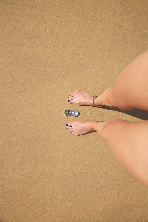 ασημένια γυναίκα ποδιών πυ στοκ φωτογραφία