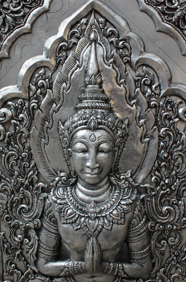 Ασημένια γλυπτική Deva στοκ φωτογραφίες με δικαίωμα ελεύθερης χρήσης