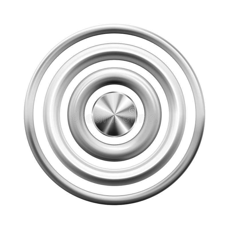 Ασημένια δαχτυλίδια, κουμπιά, καρφιά ή πλαίσια μετάλλων ελεύθερη απεικόνιση δικαιώματος