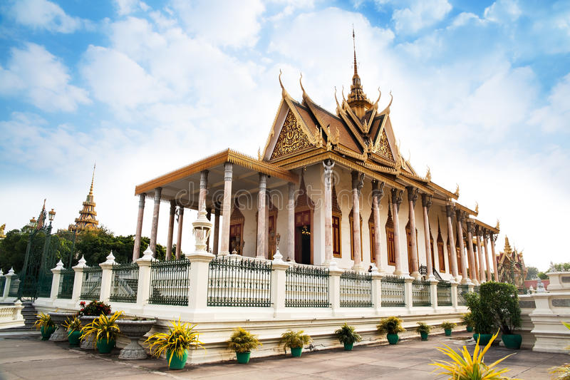 Ασημένια παγόδα στη Royal Palace, Πνομ Πενχ, No.1 έλξη στο Γ στοκ εικόνες