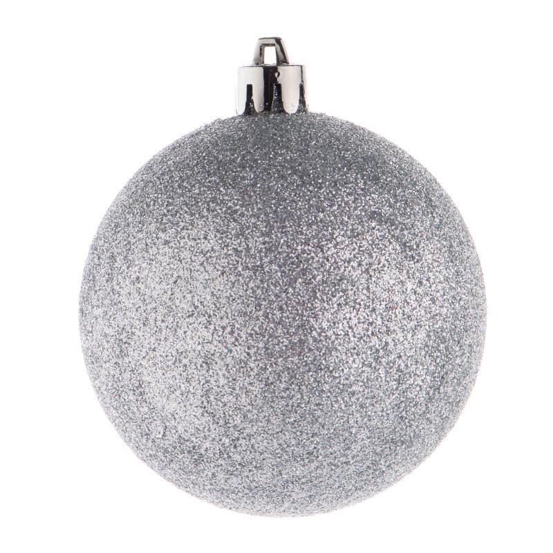 Ασημένια σφαίρα Χριστουγέννων στοκ εικόνες με δικαίωμα ελεύθερης χρήσης